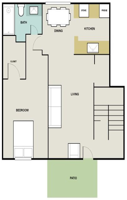 830 sq. ft. Sorel floor plan