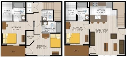 1,500 sq. ft. Marble Falls floor plan