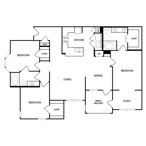 1,539 sq. ft. C2G floor plan