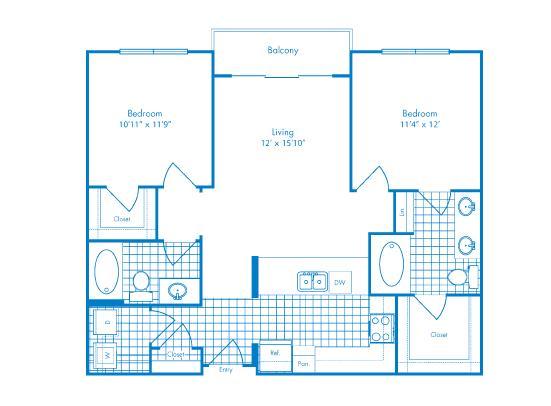 1,001 sq. ft. Atlantis floor plan