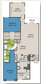 1,574 sq. ft. B6 floor plan