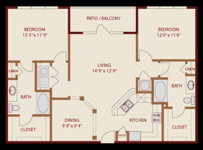 1,201 sq. ft. Lady Bird floor plan