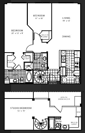 1,456 sq. ft. C2 floor plan