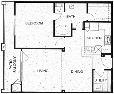 771 sq. ft. A3 floor plan
