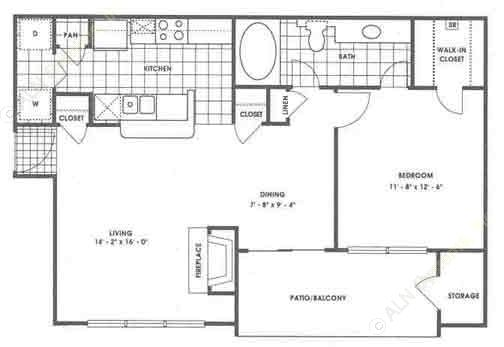 781 sq. ft. A3/Zion floor plan