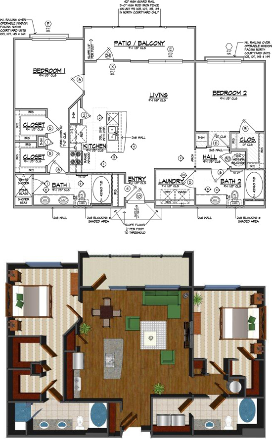 1,202 sq. ft. I floor plan