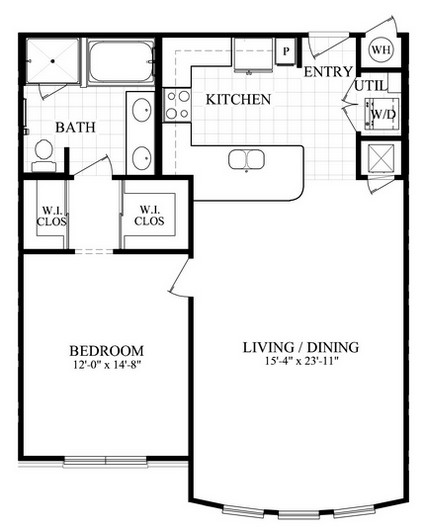 928 sq. ft. C2 floor plan