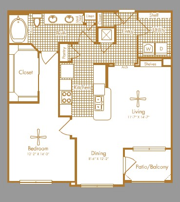 899 sq. ft. BEECHNUT floor plan