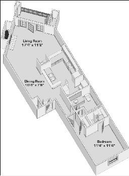 771 sq. ft. A345 floor plan