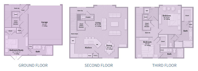 2,169 sq. ft. T1B floor plan