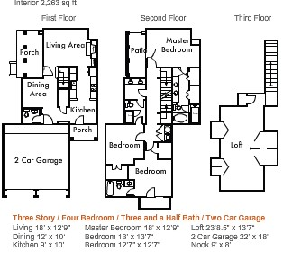 2,263 sq. ft. to 2,715 sq. ft. 4d1thgg floor plan