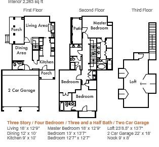 2,263 sq. ft. to 2,715 sq. ft. 4d1thgg floor plan