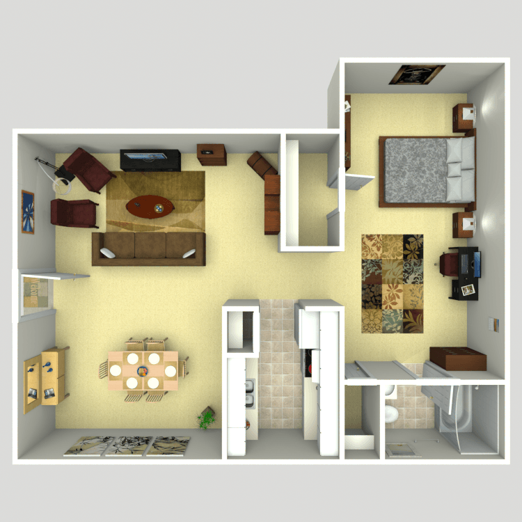 768 sq. ft. floor plan