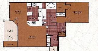 899 sq. ft. A4/Crockett floor plan