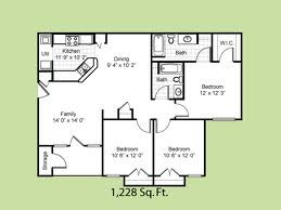 1,228 sq. ft. Santa Fe floor plan