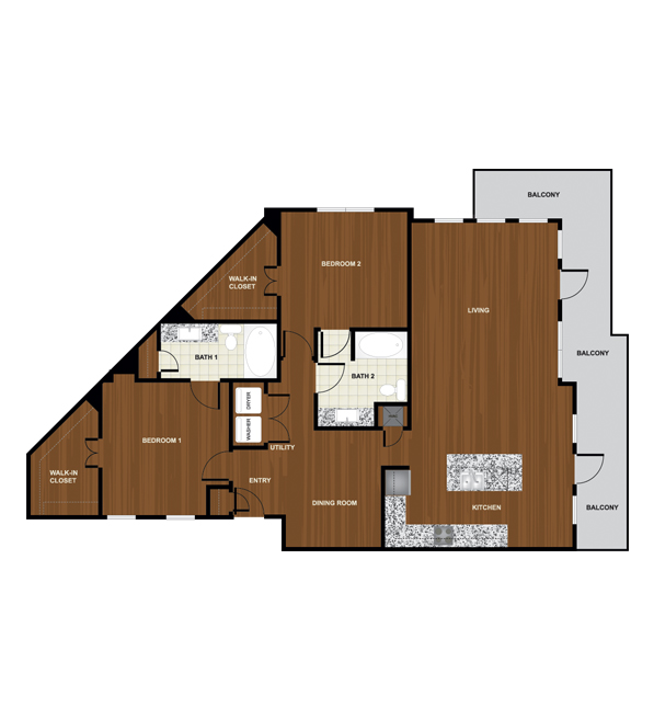1,531 sq. ft. B8 floor plan