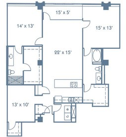 1,625 sq. ft. B7 floor plan