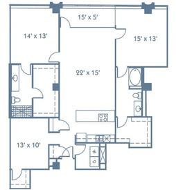 1,625 sq. ft. B7 floor plan