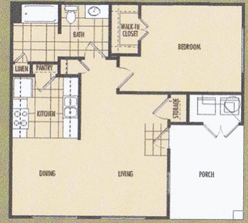 826 sq. ft. Orchid 30% floor plan