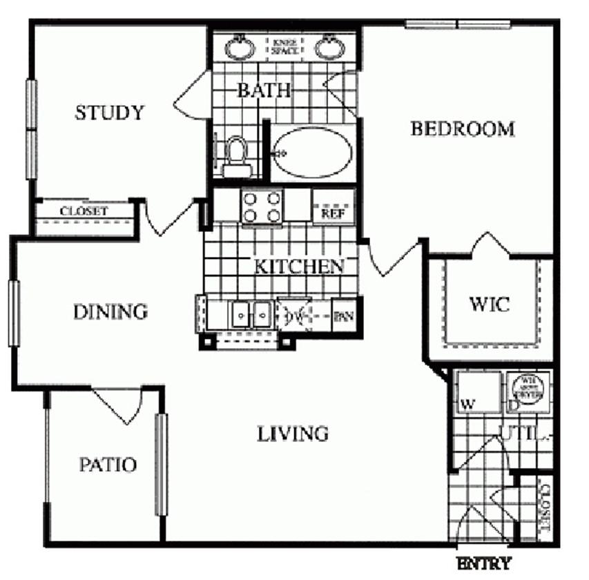 904 sq. ft. Greenway/D floor plan
