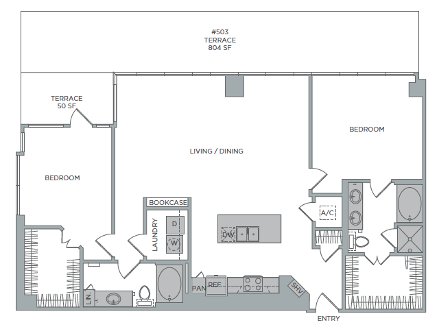 1,658 sq. ft. 2J floor plan