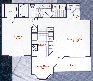 706 sq. ft. WAYFARER floor plan