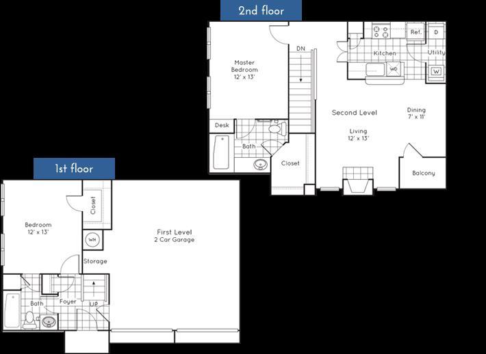 1,071 sq. ft. floor plan
