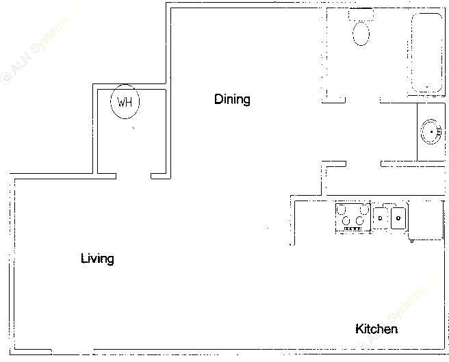 525 sq. ft. floor plan