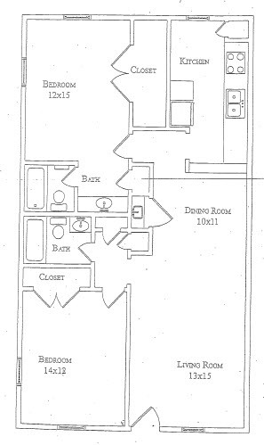 1,073 sq. ft. Sage floor plan