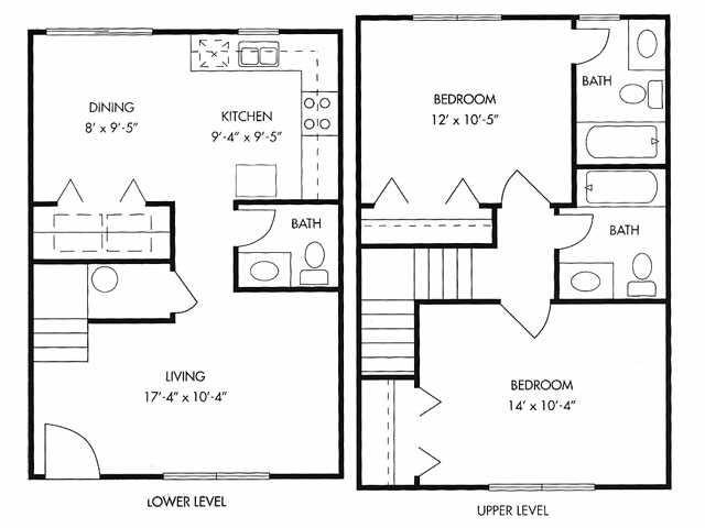 951 sq. ft. floor plan