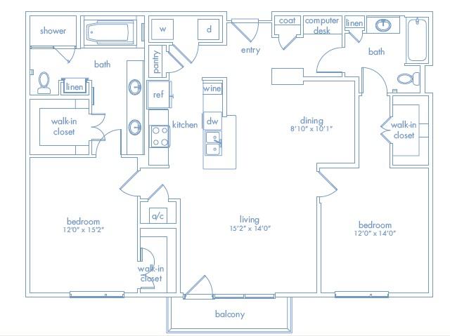1,435 sq. ft. Dali One floor plan