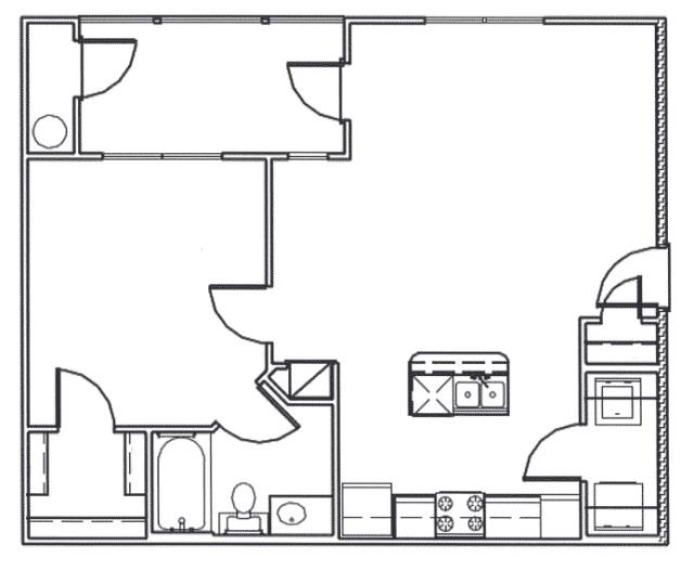 762 sq. ft. Frio floor plan