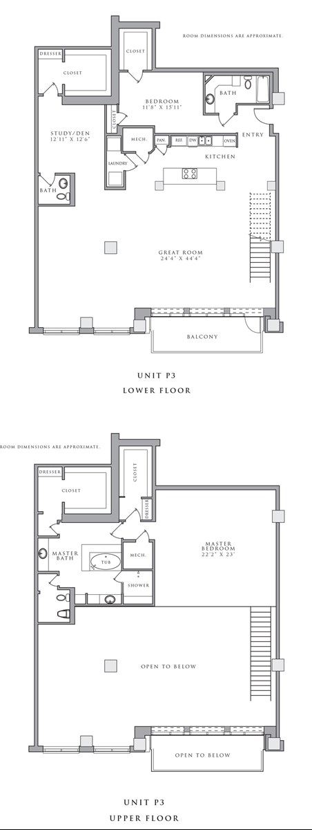 3,308 sq. ft. P3 floor plan