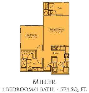 774 sq. ft. Goodman/Mkt floor plan