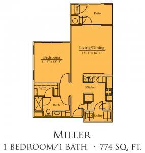 774 sq. ft. Goodman/60% floor plan