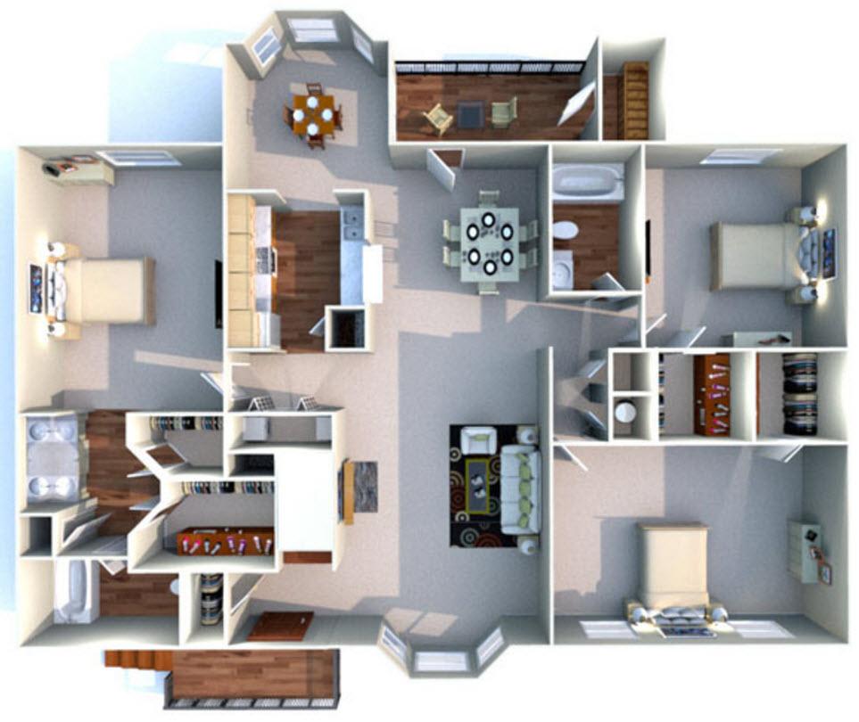 1,530 sq. ft. K floor plan