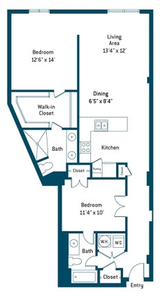 1,114 sq. ft. CC floor plan