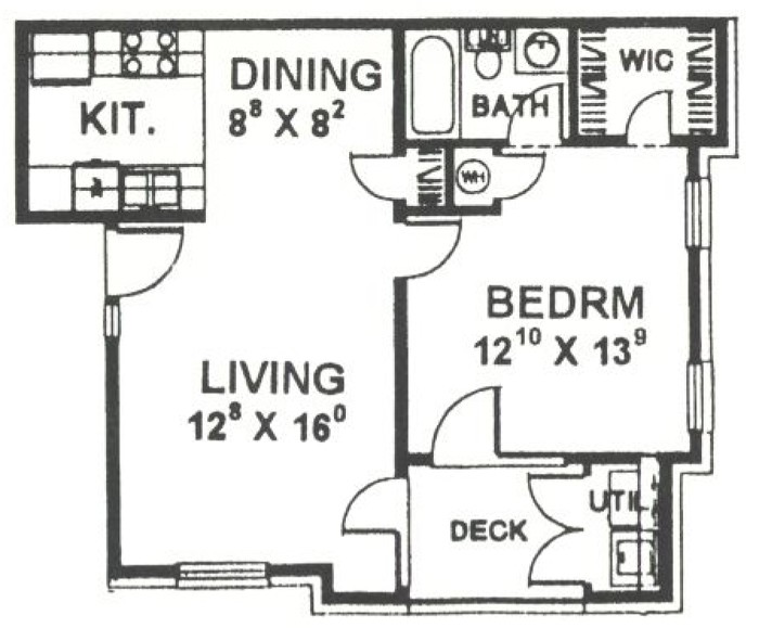 675 sq. ft. 60% floor plan