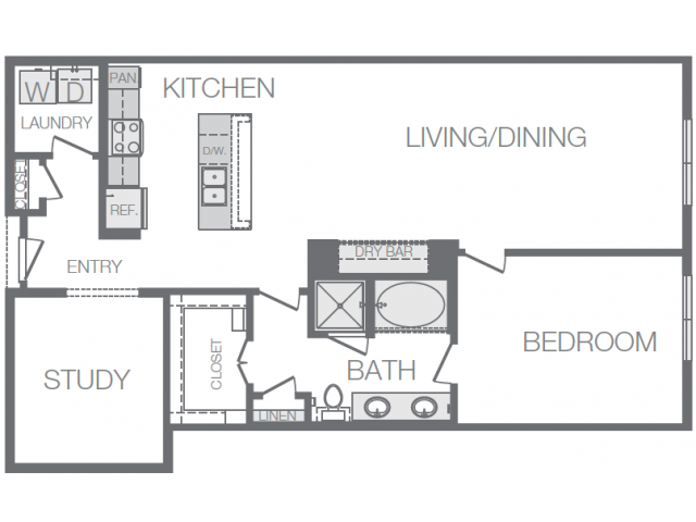 1,176 sq. ft. I floor plan
