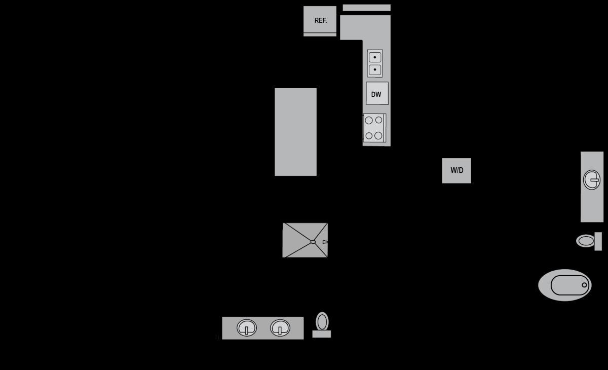 1,225 sq. ft. B3 floor plan