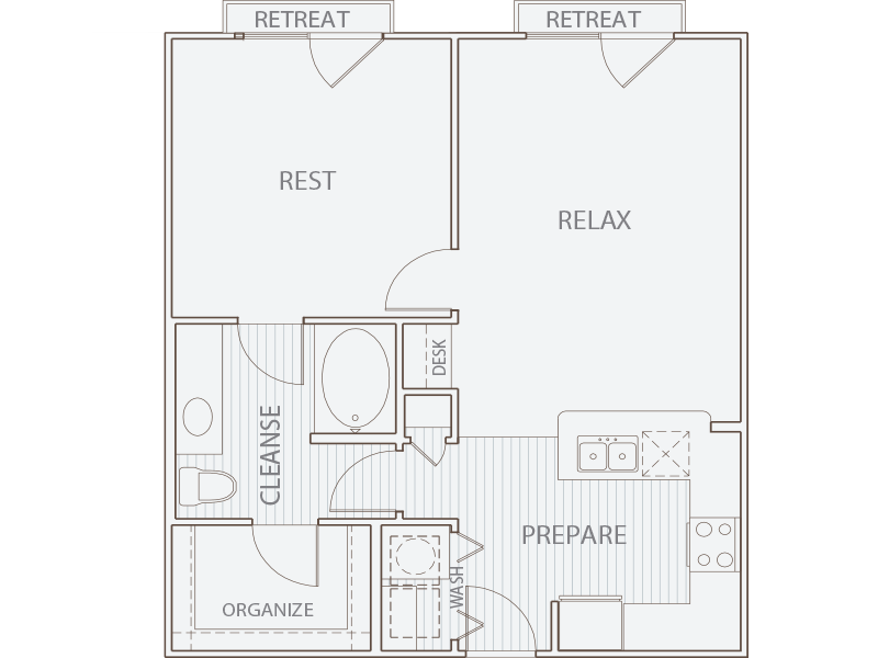 759 sq. ft. A2-JJ floor plan
