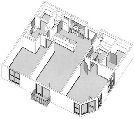 1,116 sq. ft. to 1,359 sq. ft. floor plan