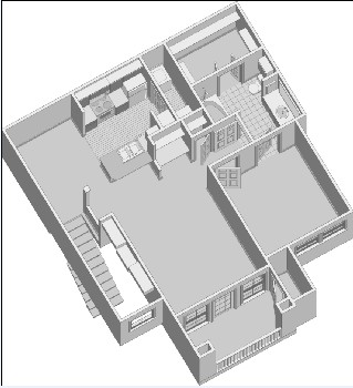 882 sq. ft. A2.1PH2 floor plan