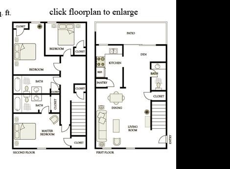1,554 sq. ft. E4 floor plan