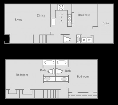 1,246 sq. ft. C floor plan