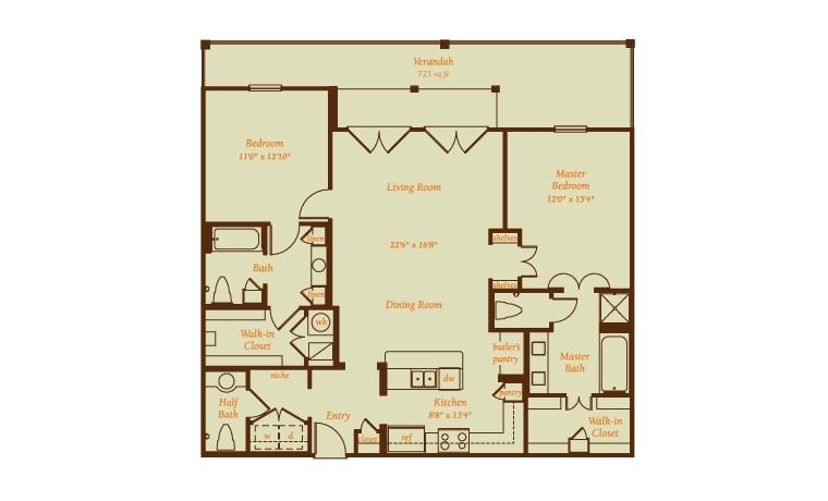 2,120 sq. ft. Marbella floor plan