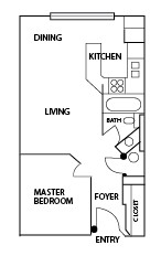 450 sq. ft. A floor plan