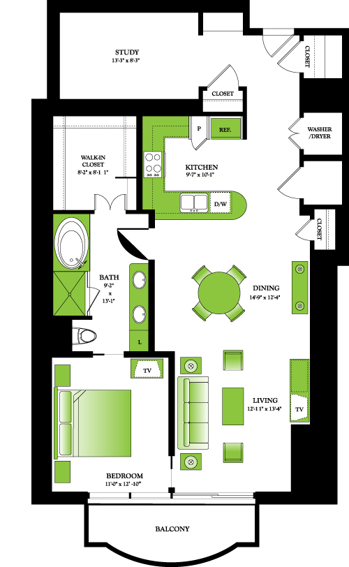 1,234 sq. ft. Birch floor plan