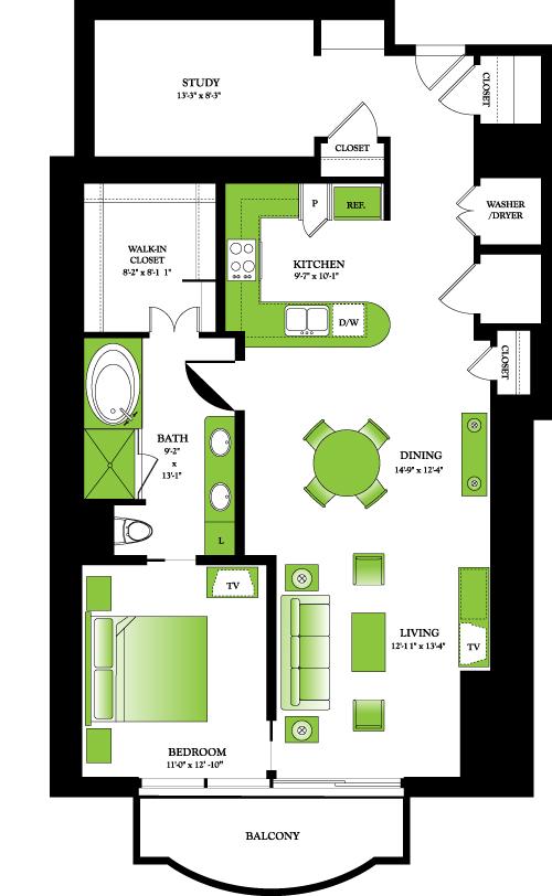 1,234 sq. ft. Birch floor plan