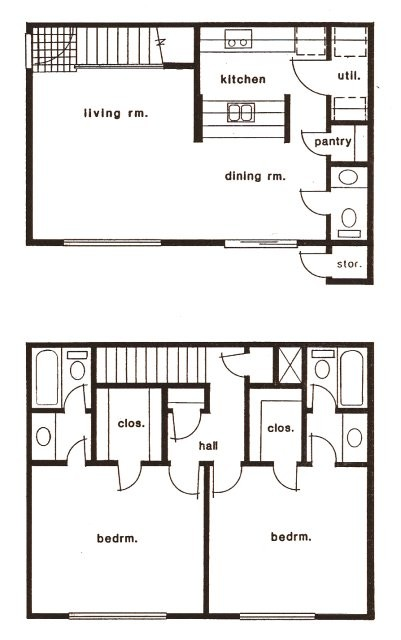 1,250 sq. ft. C/D floor plan